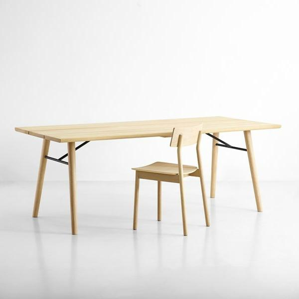 Woud Spilt Soaped Oak Dining Table For Sale - Image 4 of 5