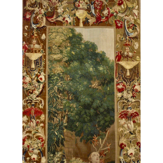 This magnificent tapestry is representing the goddess Diane , goddess hunting suggested here by the dog and also by some...