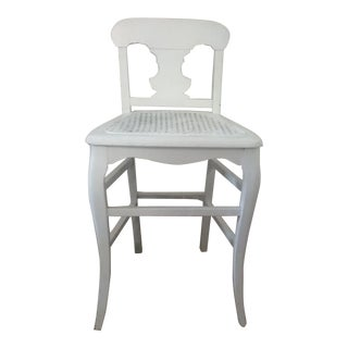 1940s Vintage Petite Country French Side Chair For Sale