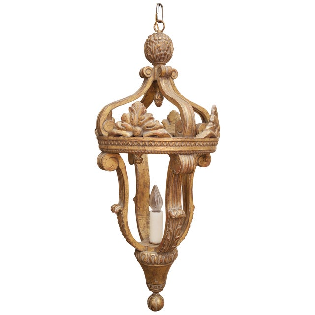 Arezzo Gilt Single Light Lantern By Formations For Sale