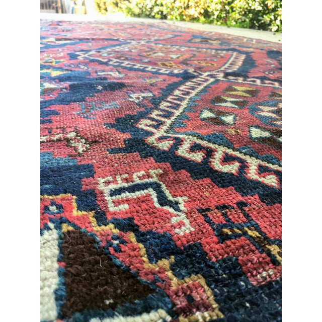 """19th Century Antique Afshar Runner - 9'4"""" x 4' For Sale - Image 5 of 6"""