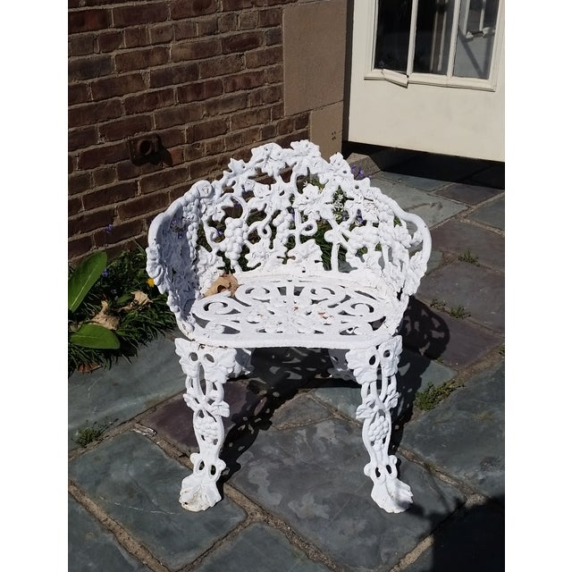 Antique Cast Iron Garden Bench - Image 2 of 11