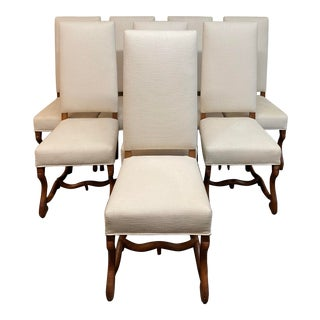 Early 20th Century Louis XIII Style Os De Mouton Dining Chairs, Set of Eight For Sale