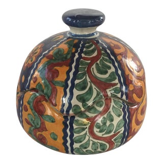 Vintage Talavera Squash Bowl with Lid For Sale