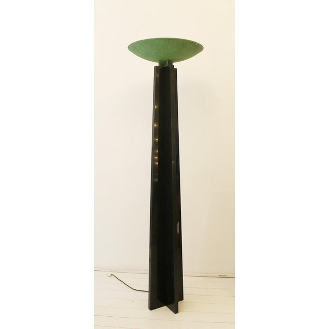 Black Floor Lamp Model 'Wagneriana' by Lella and Massimo Vignelli For Sale - Image 8 of 9