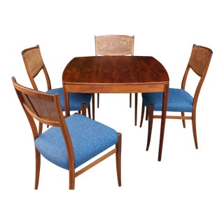 Mid Century Dining Set With Four Chairs For Sale
