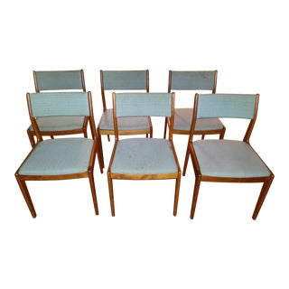 Mid-Century Danish Modern Teak Dining Chairs - Set of 6