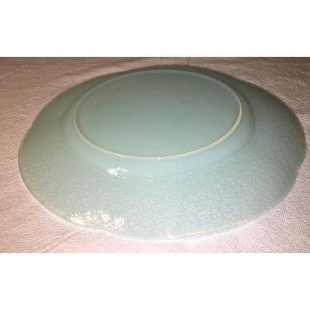 Vintage Hand Crafted Opaline Charger For Sale - Image 4 of 5