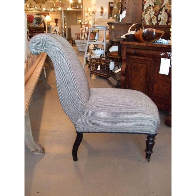 Napoleon III 19th Century Napoleon III Slipper Chair For Sale - Image 3 of 10