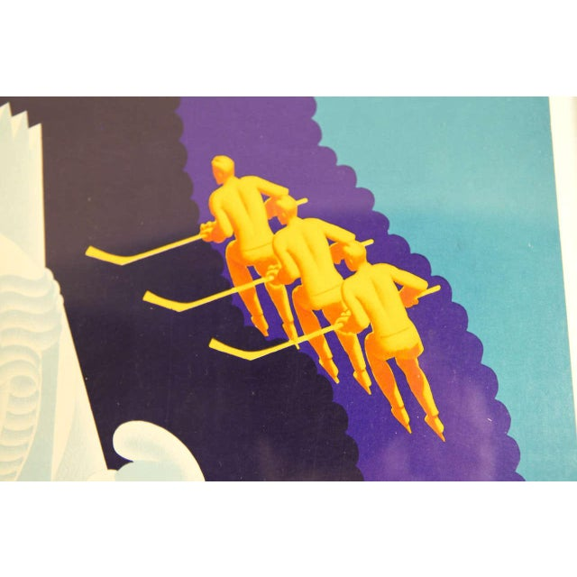 Gold Pair of 1936 Original Art Deco Pullman Seasonal Travel Posters by William Welsh For Sale - Image 8 of 11