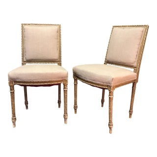 French Armless Chairs - a Pair