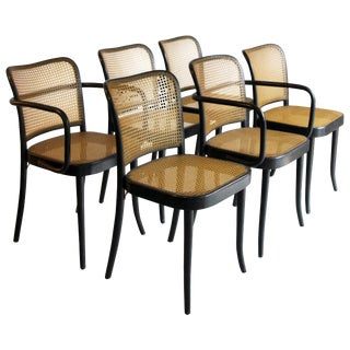 Set of 6 Josef Hoffman for Stendig Dining Chairs For Sale