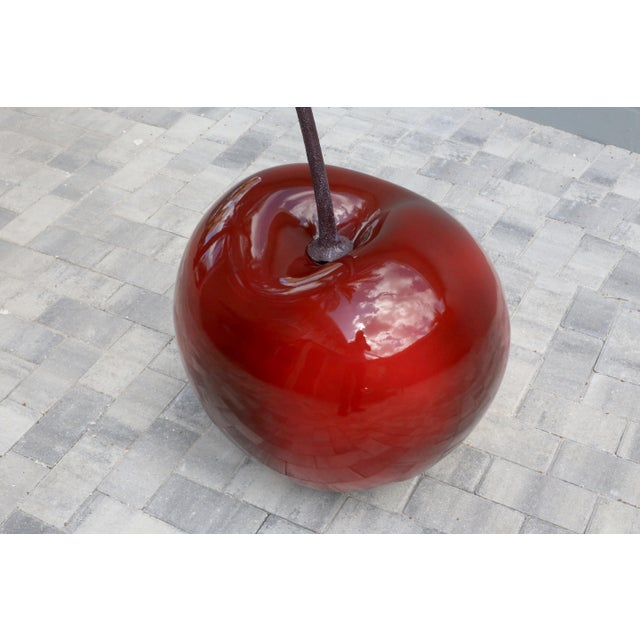 Red Monumental 4.5 Foot Tall Red Cherry Sculpture Pop Art For Sale - Image 8 of 10