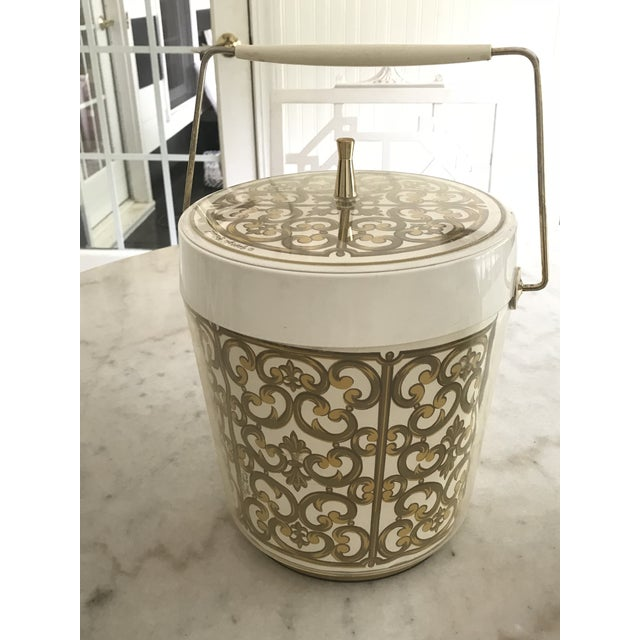 1980s Mid-Century Modern George Briard Fleur De Lis Ice Bucket For Sale - Image 10 of 10