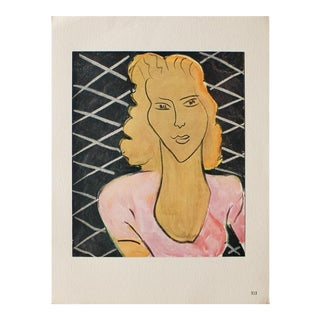 "1946 Henri Matisse ""The Lady in Rose Corsage"" Original Parisian Period Lithograph For Sale"