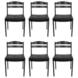 Set of Six Danish Modern Dining Chairs For Sale