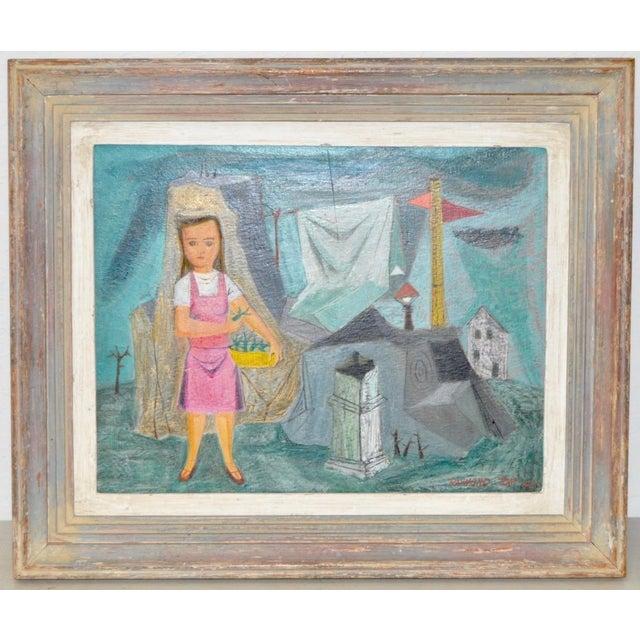 "Raymond Tom ""Domestic Surrealism"" Original Oil Painting c.1947 - Image 2 of 9"