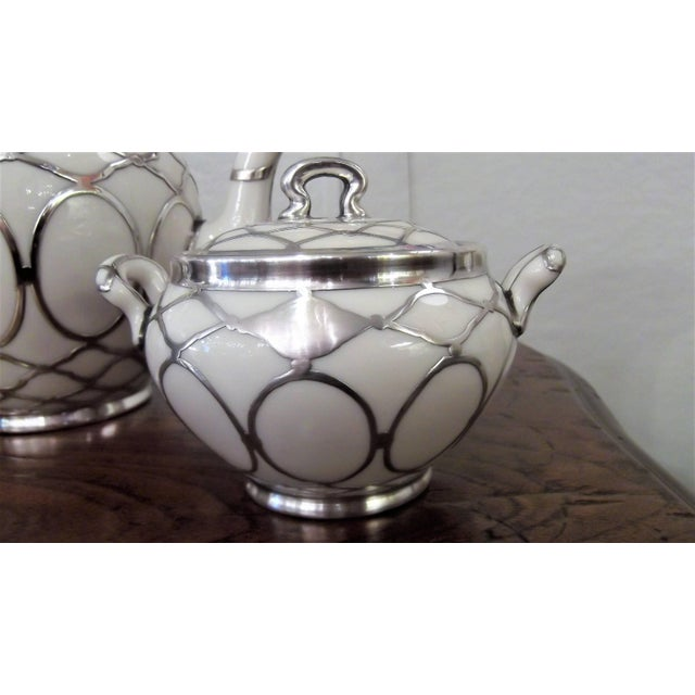 Sterling Silver Overlay Tea Service, Circa 1910 - Set of 3 For Sale - Image 4 of 8