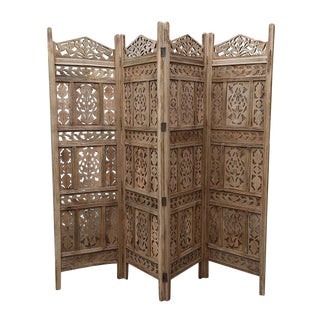 Raw Moorish Folding Screen For Sale