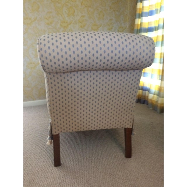 Tan 1990s Traditional Pierre Frey Upholstery Cream Slipper Chair For Sale - Image 8 of 11