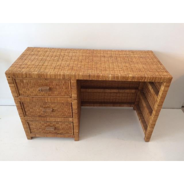 Boho Chic 1980s Boho Chic Bielecky Brothers Writing Desk For Sale - Image 3 of 13