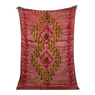 "Boujad Vintage Moroccan Rug 5'8"" X 12'6"" For Sale"