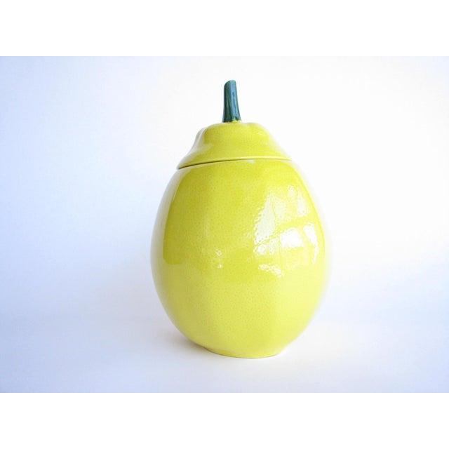 Vintage Lemon Shaped Ceramic Cookie Jar or Canister For Sale - Image 12 of 12