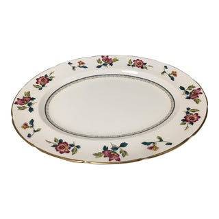 Vintage Traditional Wedgewood Chinese Flowers Oval Platter For Sale