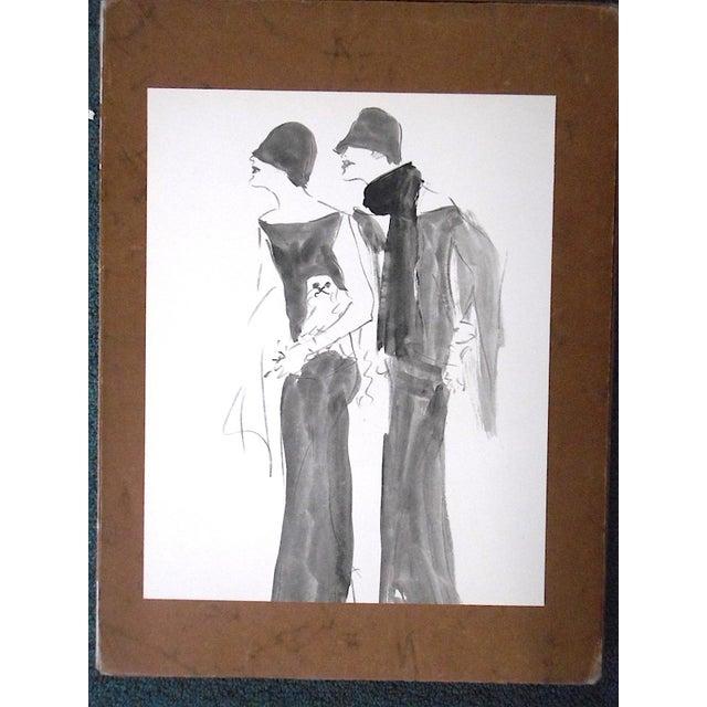 Vintage Mid 20th C. Ltd. Ed. Lithograph-Marcel Vertes c.1961 - Image 2 of 4