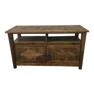 Natural Oak Hardwood TV Cabinet For Sale