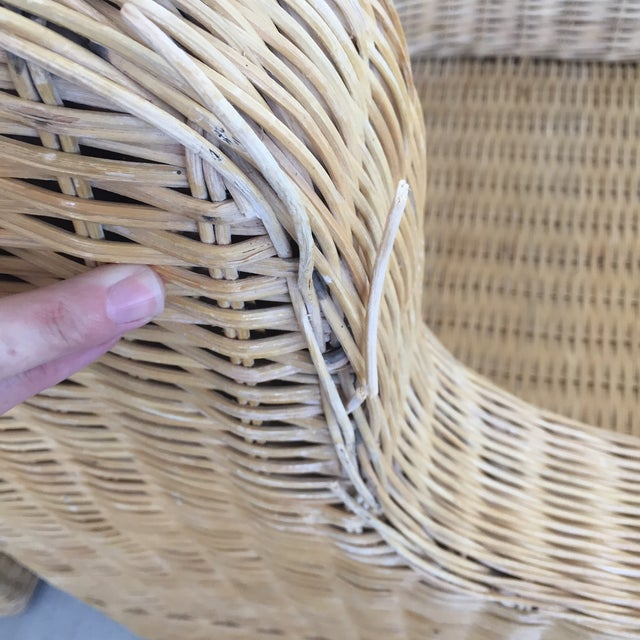 1970s Boho Chic Rattan Club Chairs - a Pair For Sale In Baltimore - Image 6 of 11