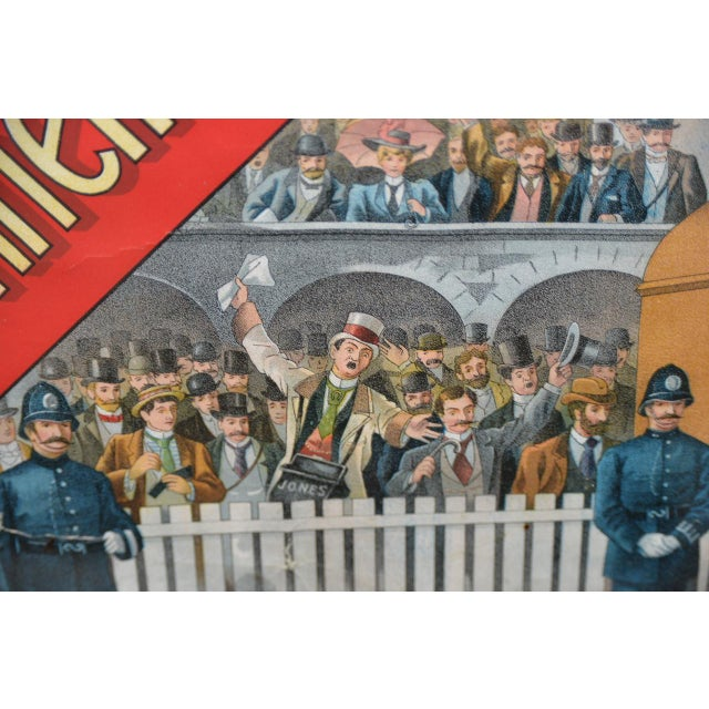 1001 to 1 Tyrconnell Wins! Victorian Whiskey Poster C.1900 For Sale - Image 10 of 12