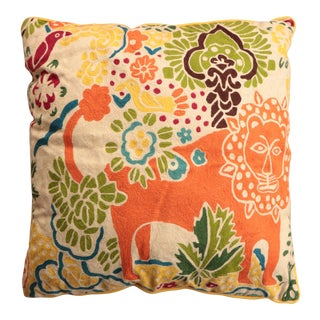 Tropical Menagerie Floor Pillow For Sale