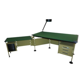 Studio Bbpr for Olivetti 1960 Green Modernist Desk For Sale