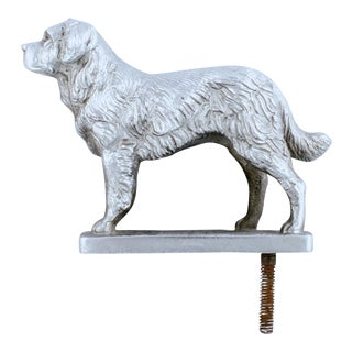 Vintage English Sporting Dog Chrome Car Mascot For Sale