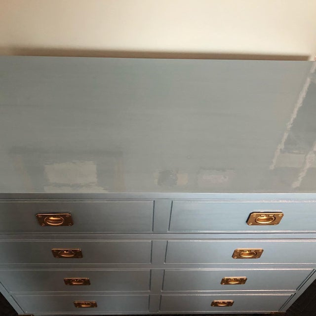 Campaign Style Bachelors Chest by Thomasville For Sale In Chicago - Image 6 of 8