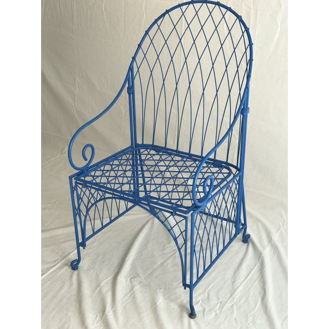 Bauhaus Vintage Italian Iron Folding Chairs - A Pair For Sale - Image 3 of 9