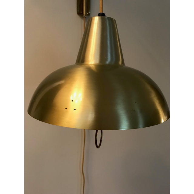 Mid 20th Century Brass Mid-Century Wall Lamp For Sale - Image 5 of 10