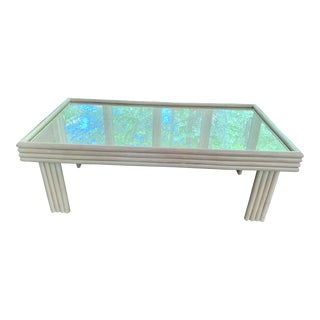 1990s Art Deco Ficks Reed Coffee Table For Sale