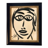 Image of Mid-Century Modern Original Abstract Peter Robert Keil Face Painting For Sale