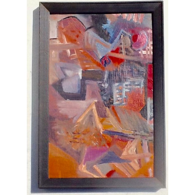 1950s 1950s Vintage European Abstract Painting For Sale - Image 5 of 5