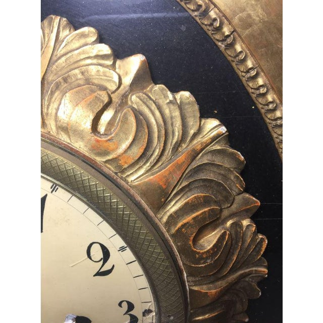 19th Century French Gilt Wall Clock in Shadow Box For Sale - Image 12 of 13