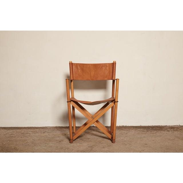Animal Skin 1960s Vinage Mogens Koch Mk-16 Safari Chair for Interna, Denmark For Sale - Image 7 of 7