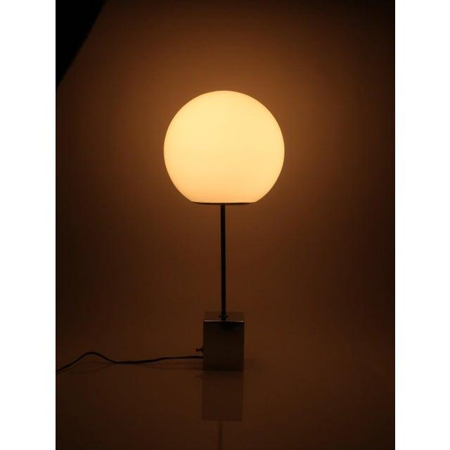 Chrome Pair of Sonneman Lollipop Table Lamps For Sale - Image 8 of 9