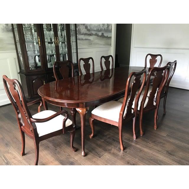 Thomasville Collector\'s Cherry Dining Set | Chairish