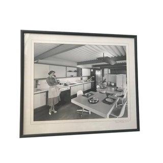 "1950s Vintage Ernest Braun ""x-100 Kitchen"" Black & White Photograph For Sale"