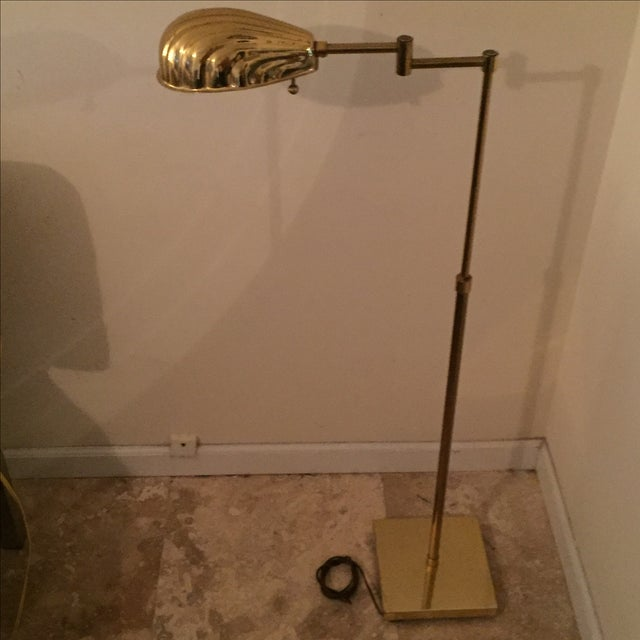 Mid century deco floor lamp. Minor scratches on base consistent with age.