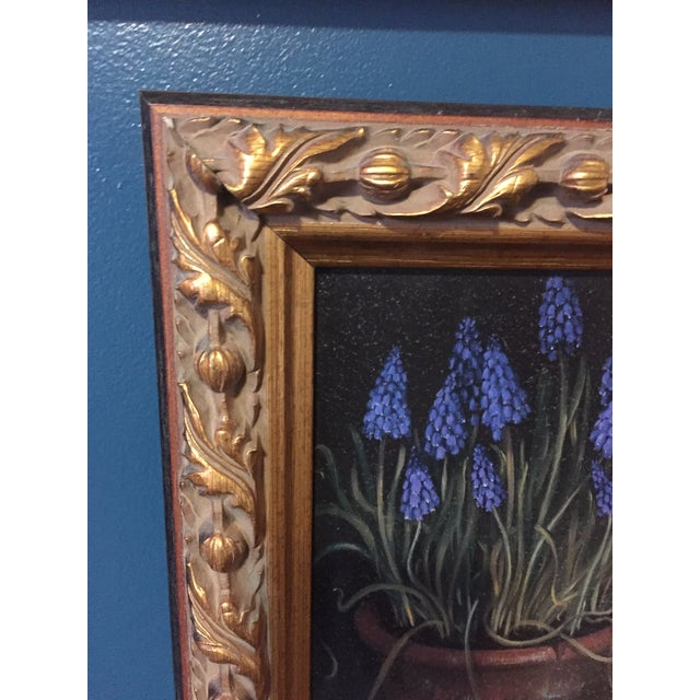 Framed Painting of Flowers in a Clay Pot - Image 4 of 5