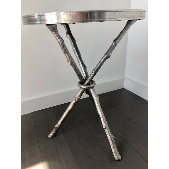 Twig Branch Tripod Accent Tables - a Pair For Sale - Image 9 of 12