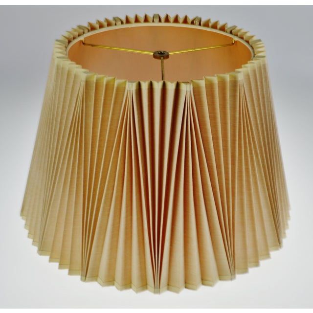Empire Vintage Large Stiffel Empire Style Pleated Fabric lampshade For Sale - Image 3 of 11